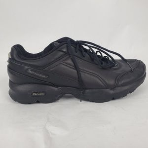Reebok DMX Black Leather Lace Up Sneakers